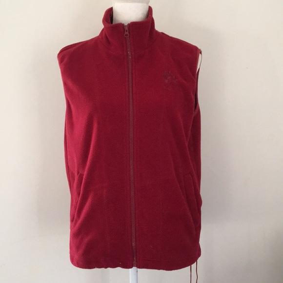 Made in santa cruz embroidered fleece vests